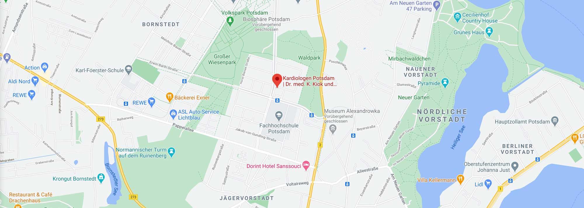 Kardiologen Potsdam Google Maps Anfahrt Praxisstandort